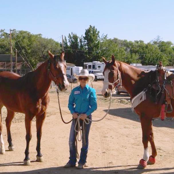 olivia davis and 2 horses
